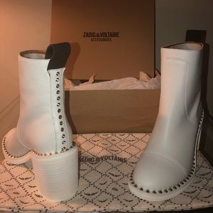 Zadig & Voltaire Empress cloud white Boots